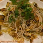 Sautéed Green Mussels with Bean Sprout